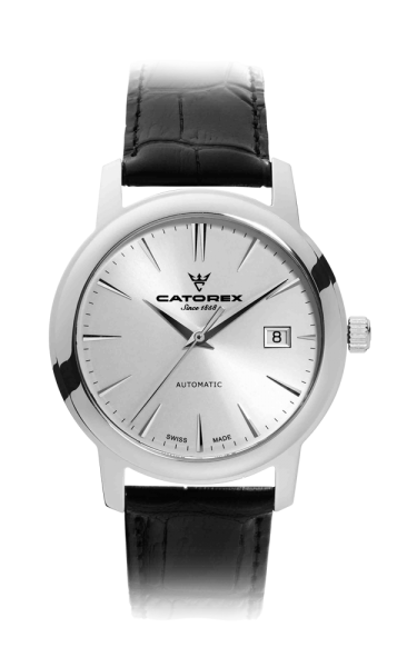 C'Attractive 40 Automatic Silver Index Leather