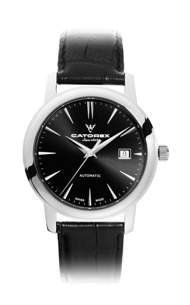 C'Attractive 40 Automatic Black Index Leather